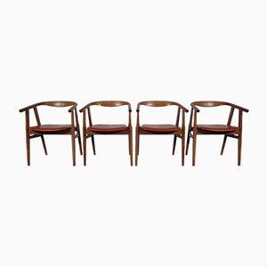 Modell 525 Esszimmerstühle von Hans J. Wegner für Getama, 4er Set