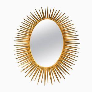 Miroir soleil en m tal noir 1960s en vente sur pamono for Miroir chaty vallauris prix