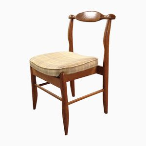 French Oak Dining Chair by Guillerme et Chambron