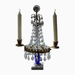 Antique Prism Candle Chandelier