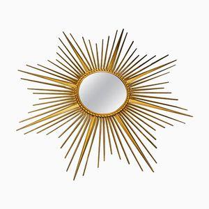 Mid-Century Italian Sunburst Mirror by Chaty Vallauris, 1960s