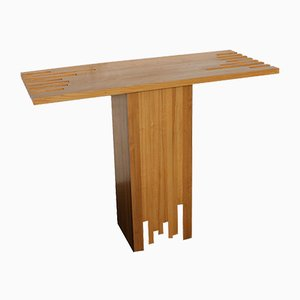 Italian Modernist Wood Console Table from Poltronova