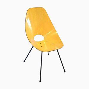 Gelbe Vintage Medea Stühle von Vittorio Nobili