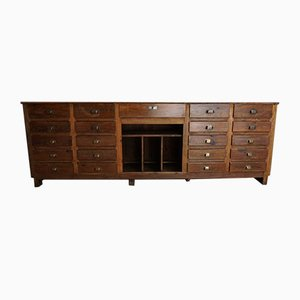 French Pine Apothecary Cabinet, 1950s