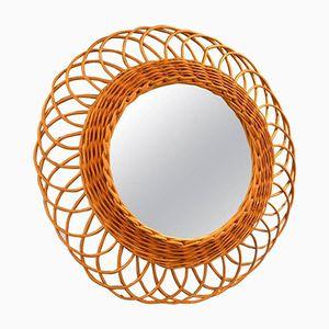 Italian Looped Wicker Mirror, 1960s