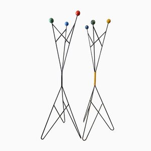 Multi-Colored Coat Stands, 1960s, Set of 2