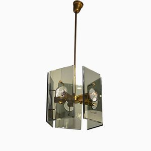 Crystal Art Lamp by Gino Paroldo for Fontana Arte