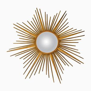 Golden Sunburst Mirror from Chaty Vallauris, 1960s