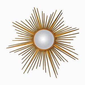 Goldener Sonnenstrahlen Spiegel von Chaty Vallauris, 1960er
