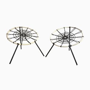 Spider Stools from Hoffer, 1950s, Set of 2