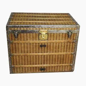 Striped Canvas Steamer Trunk from Louis Vuitton, 1870s