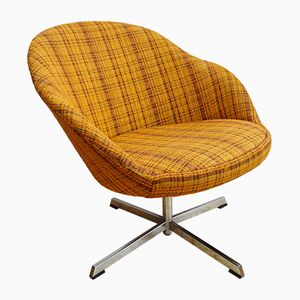 Danish Wool Swivel Lounge Chair, 1960s