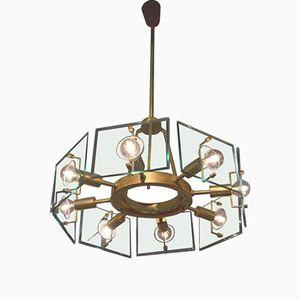 Crystal Art Lampe von Gino Paroldo für Fontana Arte, 1950er