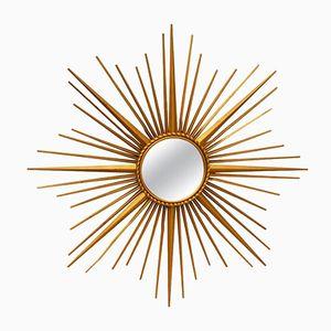 Spiegel in Sonnen Optik mit Metallrahmen von Chaty Vallauris, 1960er
