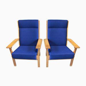 Vintage GE 181 A Sessel von Hans Wegner für Getama, 2er Set