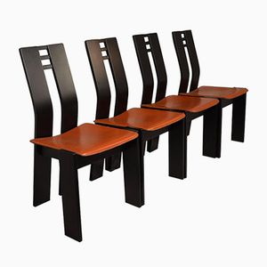 Vintage Holzstühle, 1970er, 4er Set