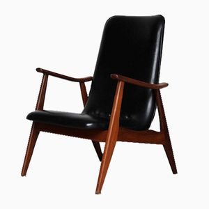 Black Lounge Chair by Louis van Teeffelen for Wébé