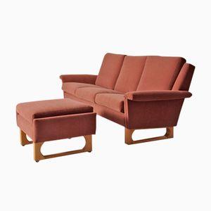 Scandinavian Modern 3-Seater Sofa & Ottoman