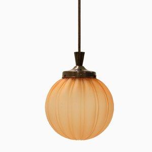 Art Deco Swedish Ceiling Lamp from Orrefors, 1930s