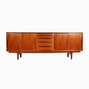 Teak Sideboard with Sliding Doors from Dyrlund, 1960s