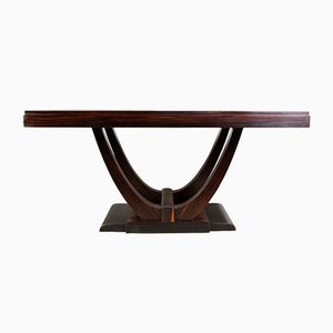Extendable Art Deco Macassar Ebony Dining Table, 1920s