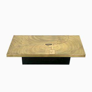 Brass Coffee Table by Fernand Dresse, 1970s