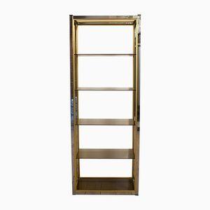 Brass & Chrome Shelf by Renato Zevi for Romeo Rega