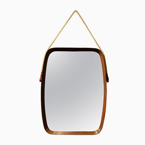 Vintage Spiegel mit Holzrahmen, 1960er