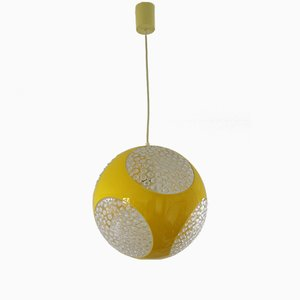 Yellow UFO Pendant Lamp by Luigi Colani, 1970s