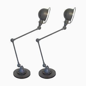 Tischlampen von Jean-Louis Domecq für Jieldé, 1950er, 2er Set