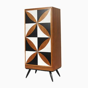 Danish Modern Cabinet with Pattern, 1960s