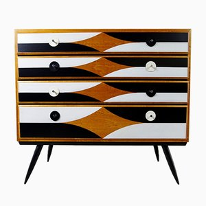 Finnish Chest of Drawers with Front Pattern from Asko, 1970s