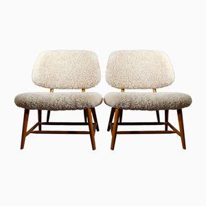 Easy Chairs Vintage Te-Ve par Alf Svensson pour Ljungs, Set de 2