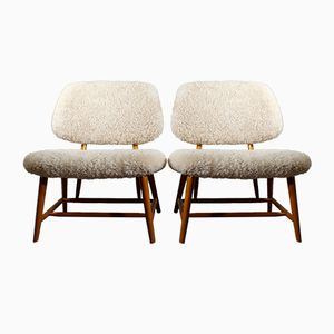 Vintage Te-Ve Easy Chairs by Alf Svensson for Ljungs, Set of 2