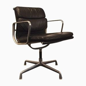 EA 208 Leather and Chrome Chair by Charles & Ray Eames for Vitra, 1960s