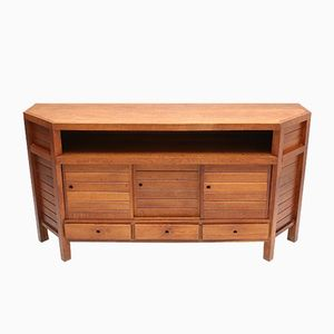 Mid-Century Modernist Stained Oak Cabinet
