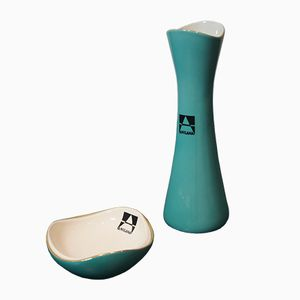 Kostka Vase & Ashtray by Danuta Duszniak and Zofia Przybyszewska for Fabryka Porcelany Chodzież, 1950s