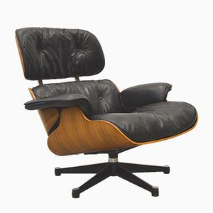 Vintage Rosewood Lounge Chair by Charles & Ray Eames for Herman Miller, 1960s
