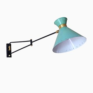 Minzgrüne Vintage Wandlampe