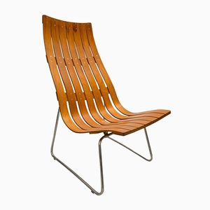 Skandia Wood Lattice Lounge Chair by Hans Brattrud, 1960s