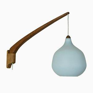 Teak Wandlampe von Uno & Östen Kristiansson für Luxus Vittsjö Sweden, 1950er