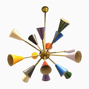 Vintage Multicolor Sputnik Ceiling Light