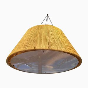 Large Braided Rope Ceiling Light, 1970s