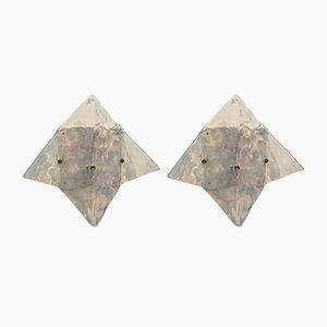 Sculptural Wall Sconces from Mazzega, Set of 2