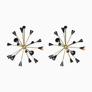 Vintage Deckenlampen im Sputnik Stil, 2er Set