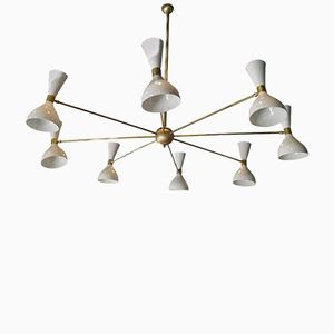 Vintage Ceiling Light with Eight Adjustable Shades
