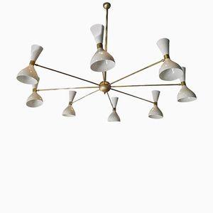 Vintage Deckenlampe mit Acht Verstellbaren Leuchten