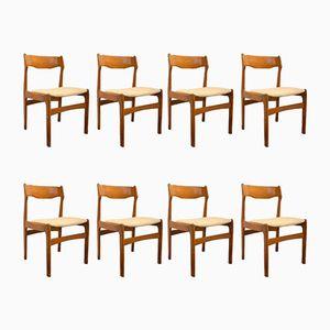 Dänische Mid-Century Teak Esszimmerstühle, 8er Set