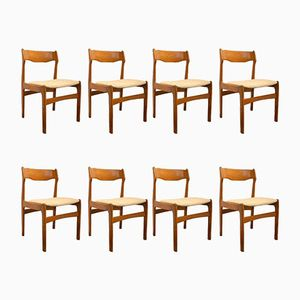 Mid-Century Danish Teak Dining Chairs, Set of 8