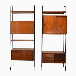 Italian Bookcases, 1960s, Set of 2